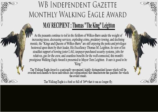 Large walking eagle with black bottom
