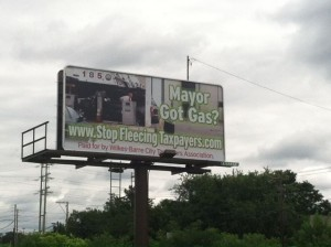 Mayor, Got Gas billboard