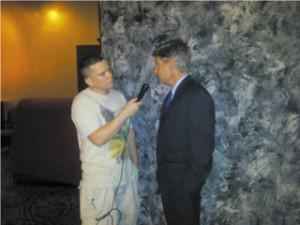 Antonello interviewing Gary Johnson at Restoring Freedoms 2012