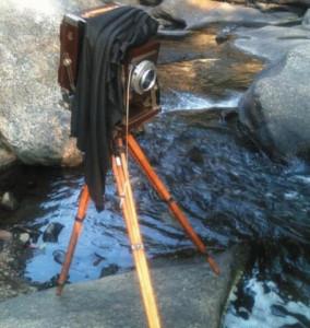 Deardorff 90-year-old camera, mahogany and brass