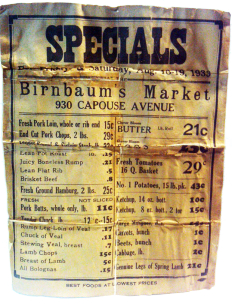 Antique Birnbaums Market Menu