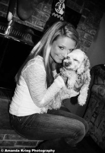 Sarah and her puppy Sophie