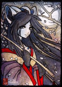 Tea Fox Illustrations - Freya (Commission)