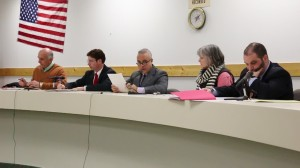 (L to R): Commissioners Weber, Giannetta, Volpe, Sheridan, and Solicitor Ruggerio