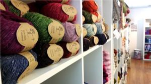 Yarn on shelving