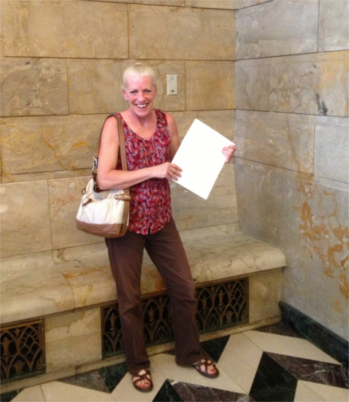 Betsy completes candidate filing in Harrisburg