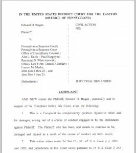 Bogan federal lawsuit, page 1