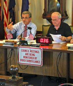 Chairman Bill Barrett and City Clerk Jim Ryan
