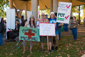 Some signs present at the Wilkes-Barre Cannabis Reform Rally, September 27, 2014