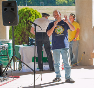 Les Stark, executive director of the Keystone Cannabis Coalition speaking at the Wilkes-Barre Cannabis Reform Rally on September 27, 2014