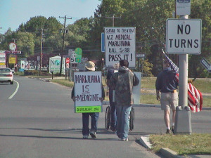 May 21, 2007, New Jersey Libertarian Party walk for medical marijuana/photo by Raymond E. Babecki