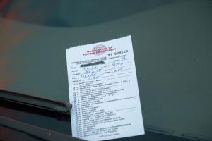 November 3 parking ticket