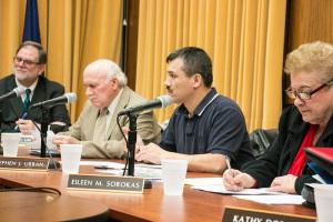 (L to R): Manager Bob Lawton, Councilman Stephen A. Urban, Councilman Stephen J. Urban, and Councilwoman Eileen M. Sorokas