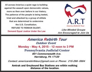 America Rebirth Tour May 4 judicial rally