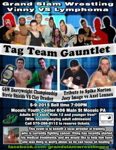 Wrestling Fundraiser for Hodgkin's Lymphoma, May 9, Moosic